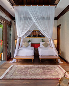Des Indes II - Twin guest bedroom